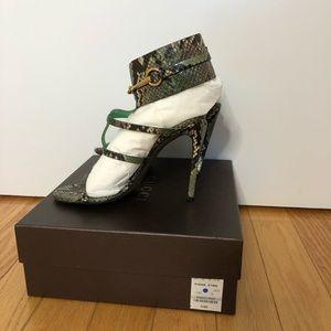 Gucci Ursula Python Leather Cage Sandals